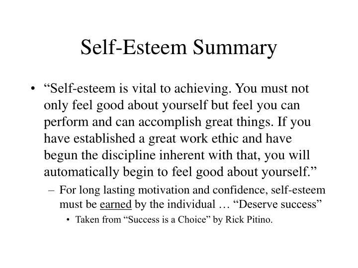 Self-Esteem Summary