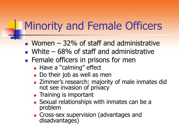 Minority and Female Officers