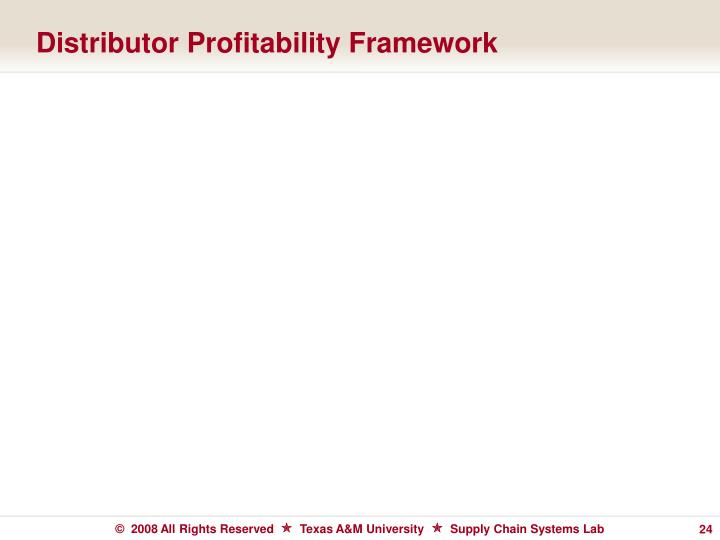 Distributor Profitability Framework