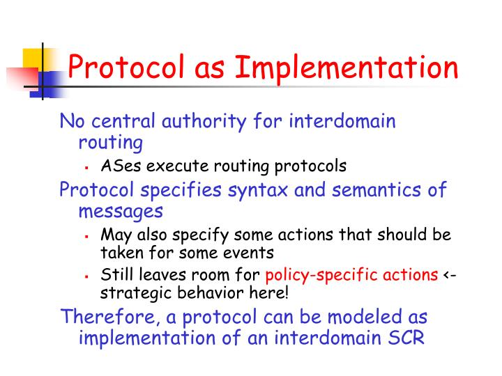 Protocol as Implementation