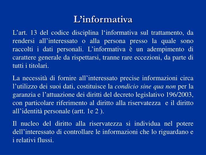 L'informativa
