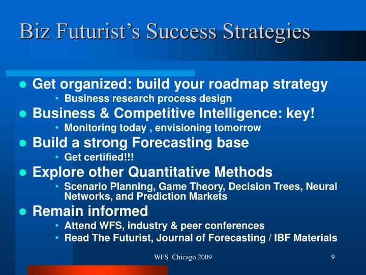 Biz Futurist's Success Strategies