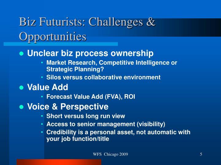 Biz Futurists: Challenges & Opportunities
