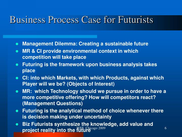 Business Process Case for Futurists