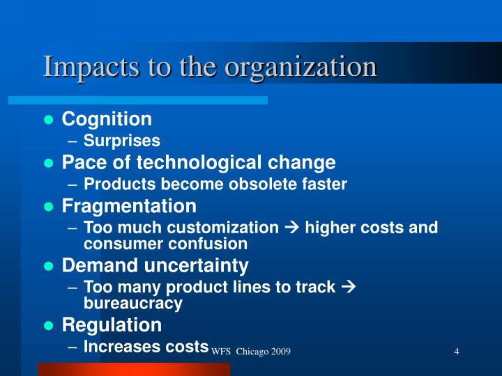 Impacts to the organization