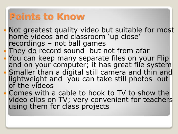 Not greatest quality video but suitable for most home videos and classroom 'up close' recordings – not ball games