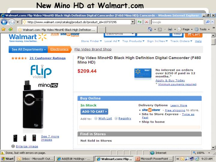 New Mino HD at Walmart.com