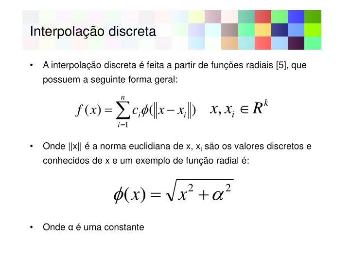 Interpolação discreta