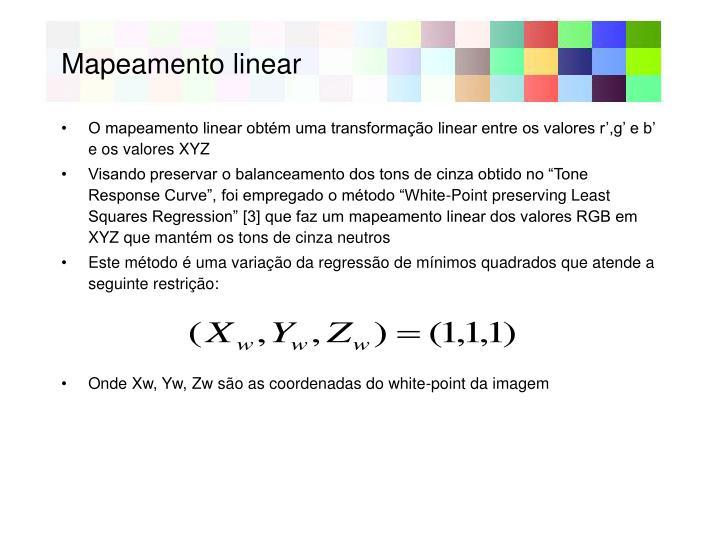 Mapeamento linear