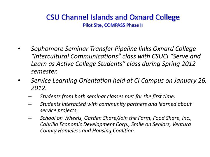 CSU Channel Islands and Oxnard College