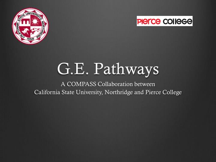 G.E. Pathways