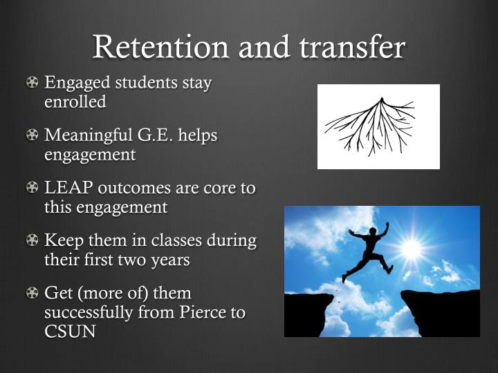 Retention and transfer
