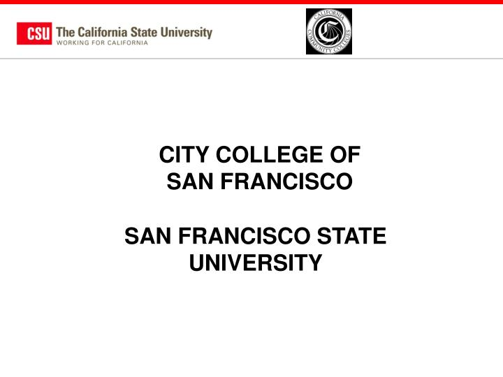 CITY COLLEGE OF