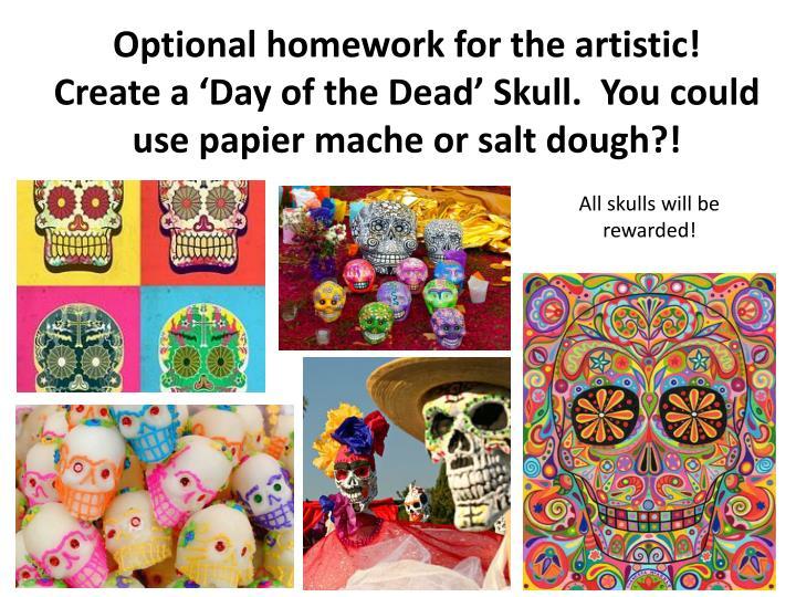 Optional homework for the artistic!