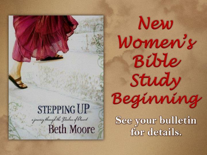 New Women's Bible Study