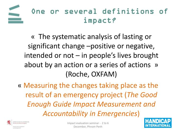 One or several definitions of impact?