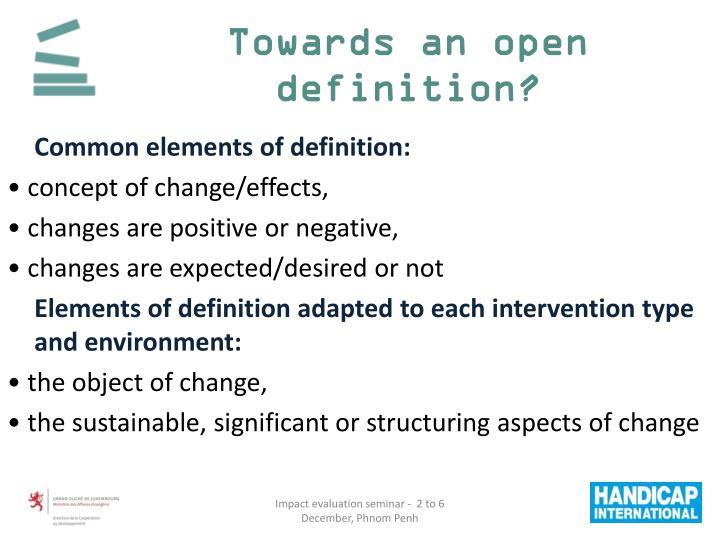 Towards an open definition?