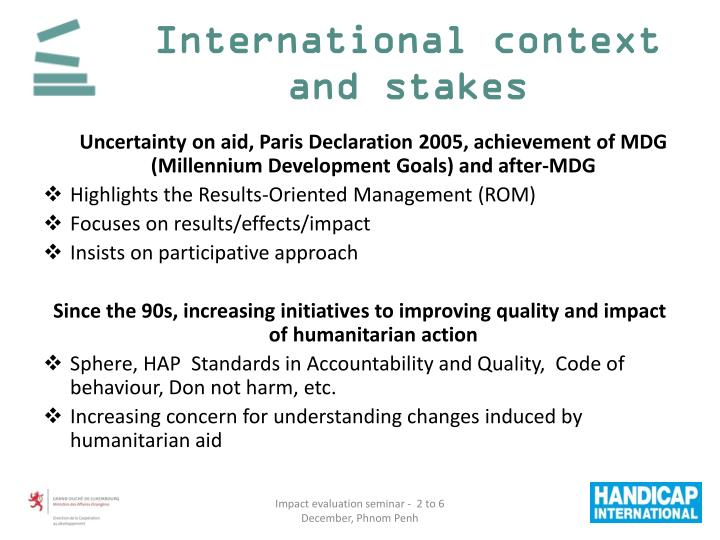 International context and stakes