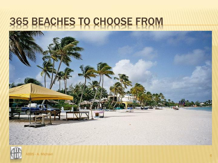 365 beaches to choose from