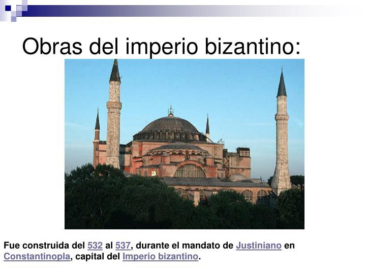 Obras del imperio bizantino: