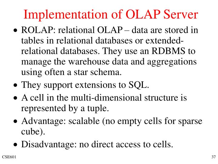 Implementation of OLAP Server
