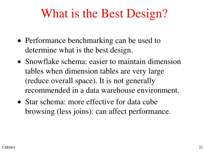 What is the Best Design?