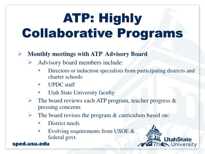 ATP: Highly Collaborative Programs