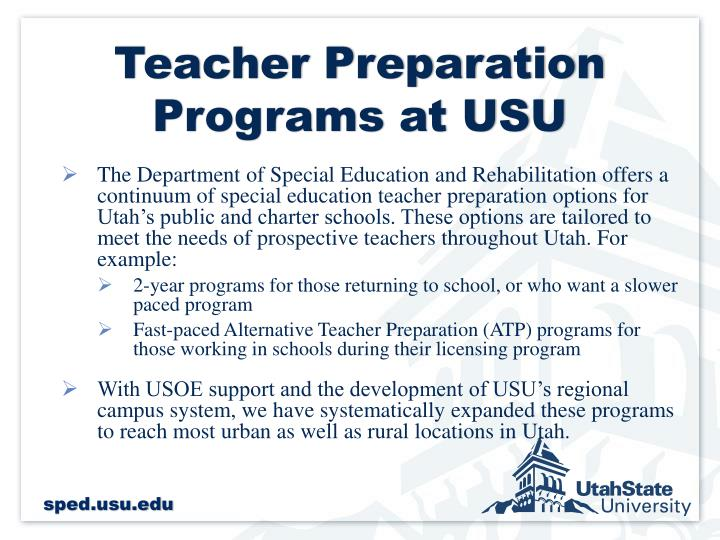 Teacher Preparation Programs at USU