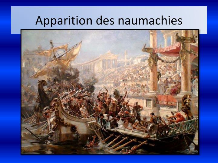 Apparition des naumachies
