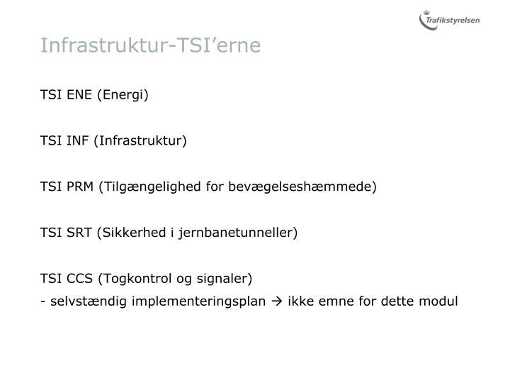 Infrastruktur-TSI'erne