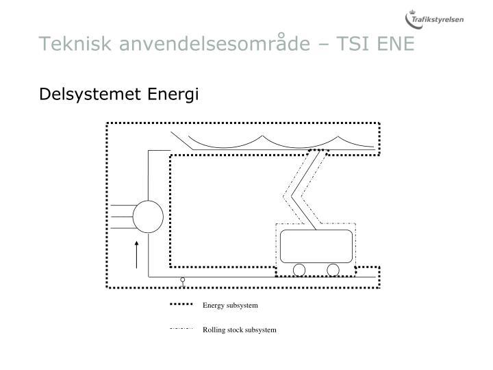 Teknisk anvendelsesområde – TSI ENE