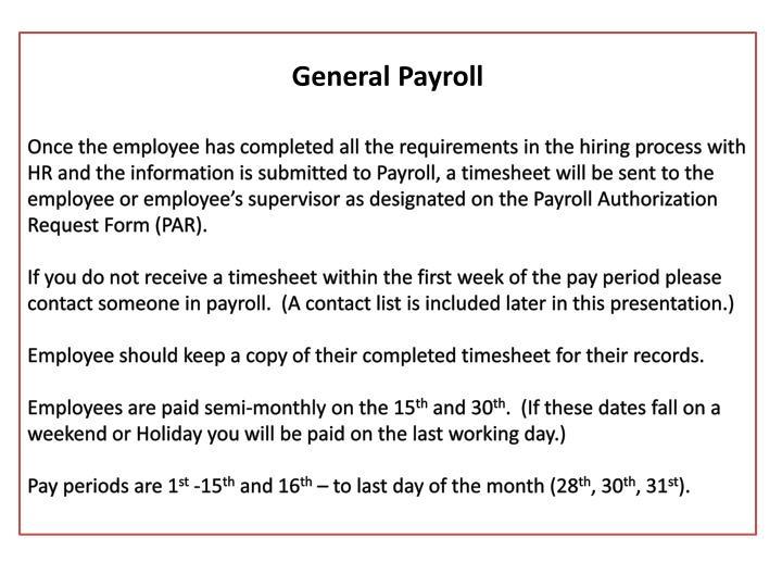 General Payroll