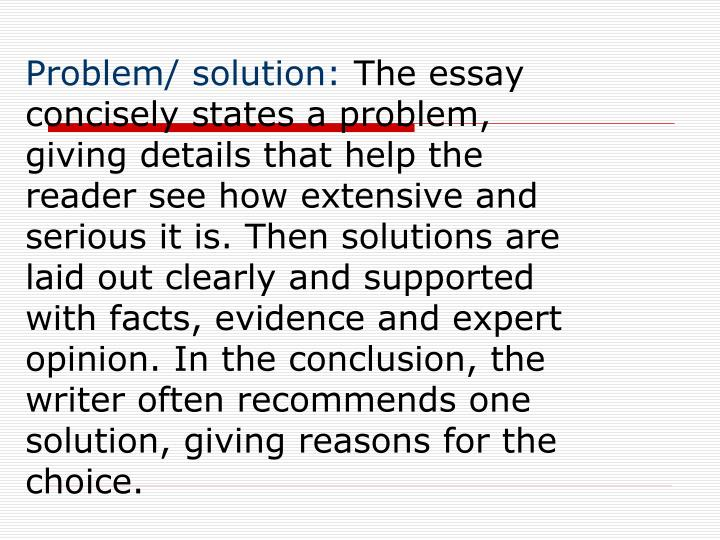 Problem/ solution: