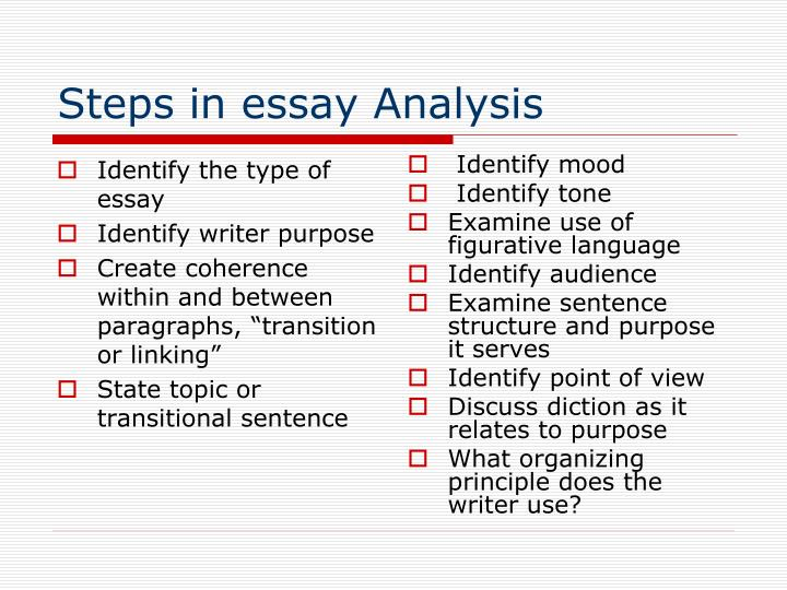 Identify the type of essay