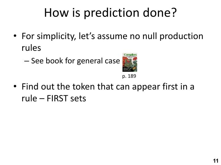 How is prediction done?