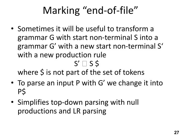 "Marking ""end-of-file"""