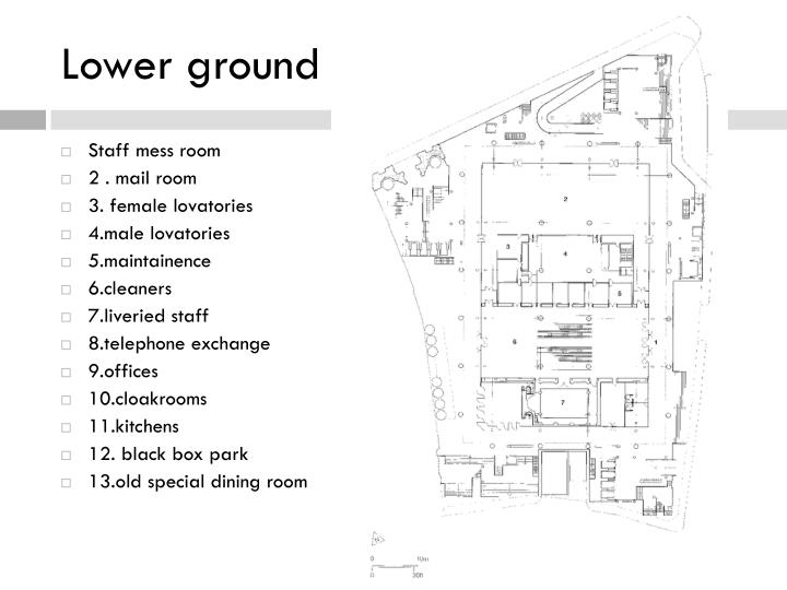 Lower ground level plan