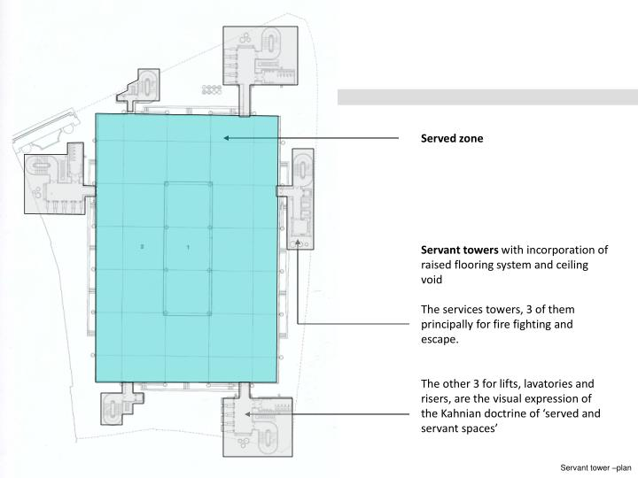 Servant tower –plan