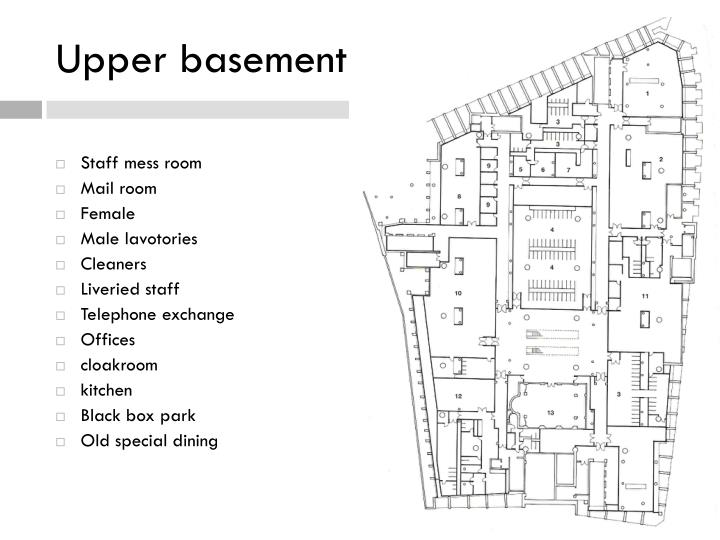 Upper basement plan
