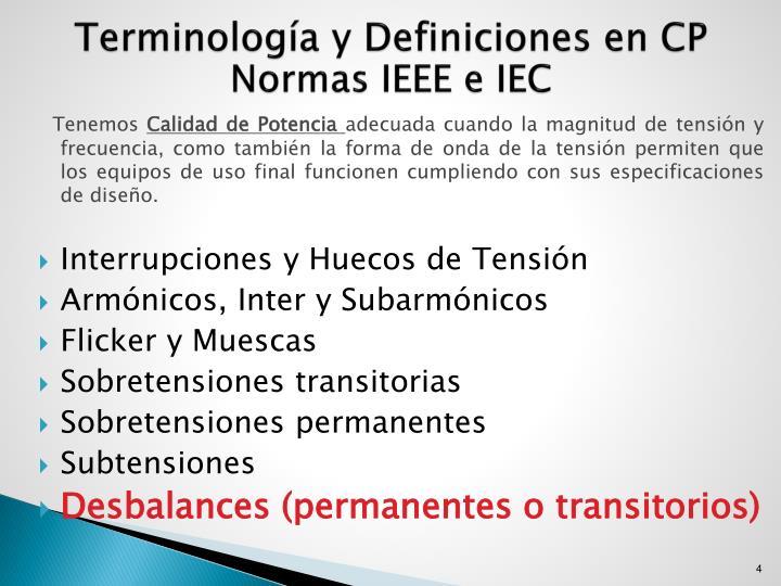 Terminología y Definiciones en CP