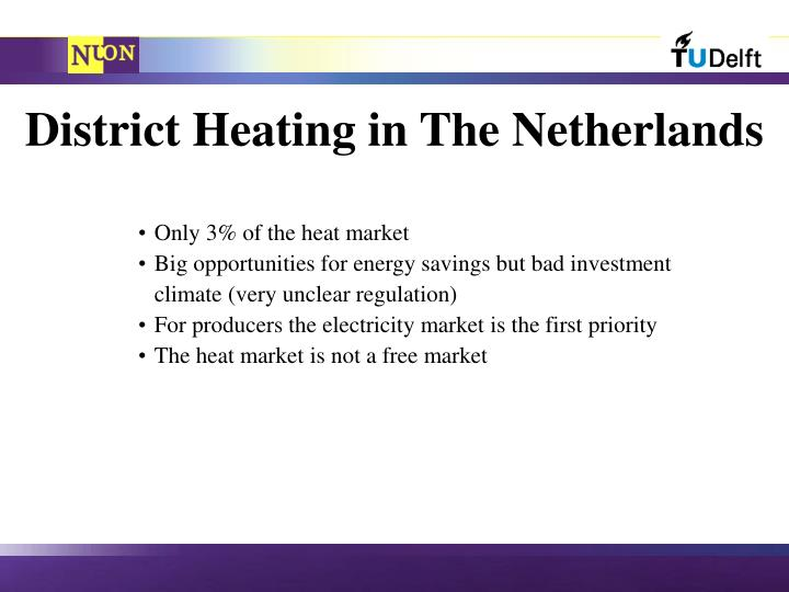 District Heating in The Netherlands