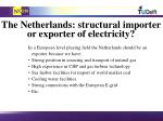 the netherlands structural importer or exporter of electricity