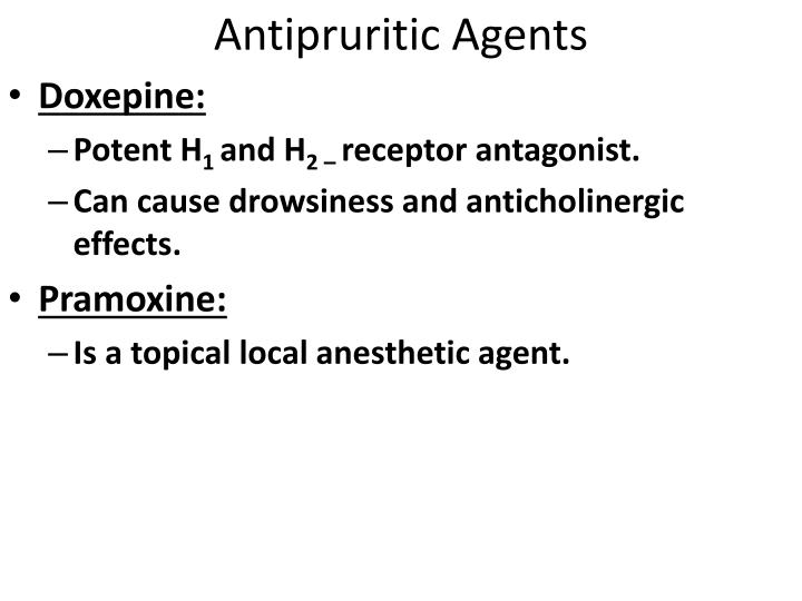 Antipruritic Agents