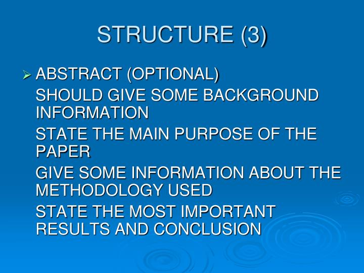 STRUCTURE (3)