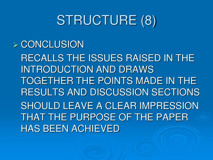 STRUCTURE (8)