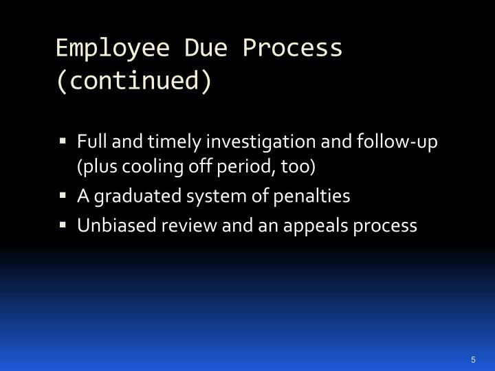 Employee Due Process (continued)