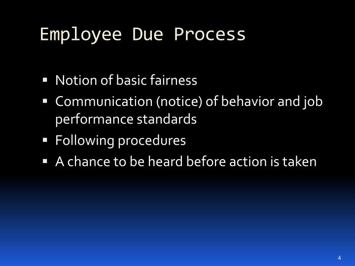 Employee Due Process