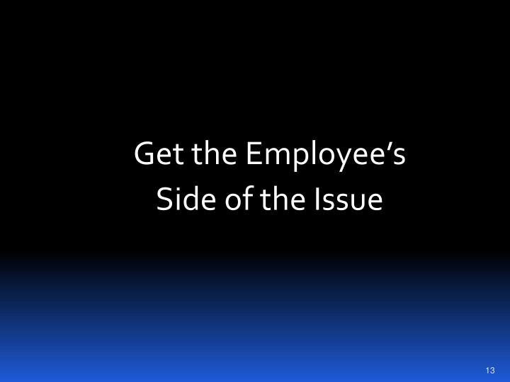 Get the Employee's