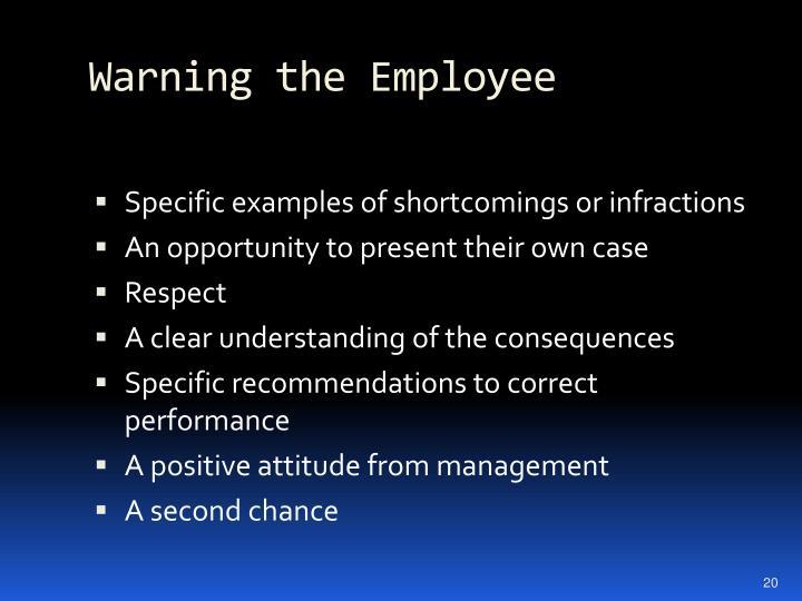 Warning the Employee