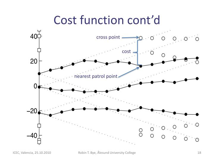 Cost function cont'd